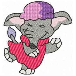 Female Elephant embroidery design