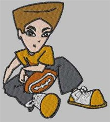 Football Boy embroidery design
