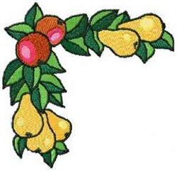 Fruit Corner embroidery design