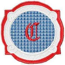 Patriotic Font C embroidery design