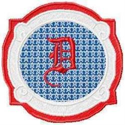 Patriotic Font D embroidery design
