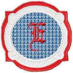 Patriotic Font E embroidery design