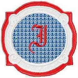 Patriotic Font I embroidery design