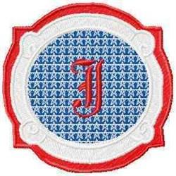 Patriotic Font J embroidery design