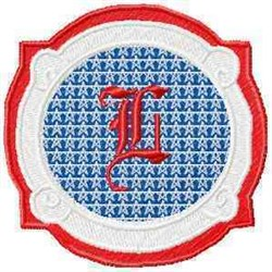 Patriotic Font L embroidery design