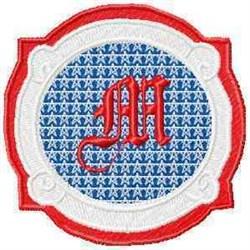 Patriotic Font M embroidery design
