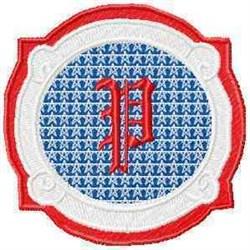 Patriotic Font P embroidery design