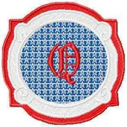 Patriotic Font Q embroidery design