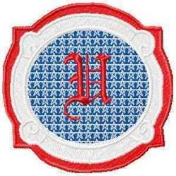 Patriotic Font U embroidery design