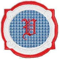 Patriotic Font V embroidery design