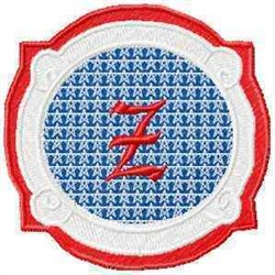Patriotic Font Z embroidery design