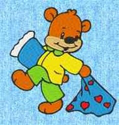 Bear In Pajamas embroidery design