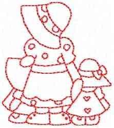 Redbonnet Girls embroidery design