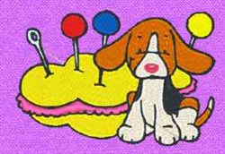 Puppy Sewing embroidery design