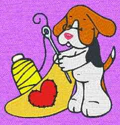 Sewing Puppy embroidery design