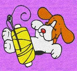 Dog Sewing embroidery design