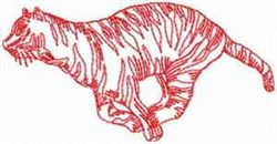 Running Tiger embroidery design