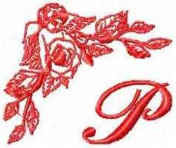 Valentine Font P embroidery design