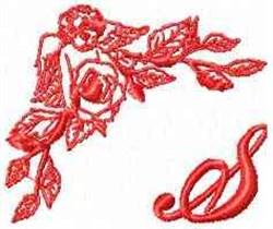 Valentine Font S embroidery design