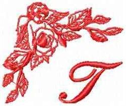 Valentine Font T embroidery design