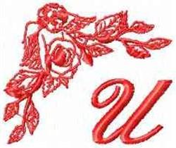 Valentine Font U embroidery design