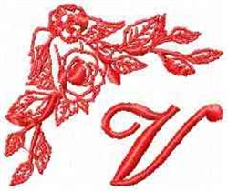 Valentine Font V embroidery design