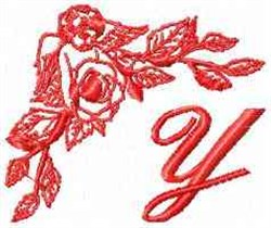 Valentine Font Y embroidery design
