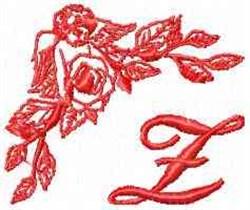 Valentine Font Z embroidery design