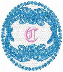 Victorian Lace Font C embroidery design