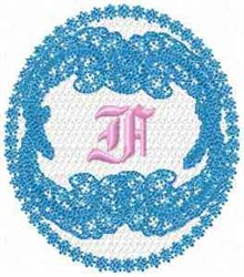 Victorian Lace F embroidery design