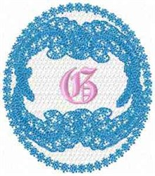 Victorian Lace G embroidery design