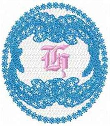 Victorian Lace H embroidery design
