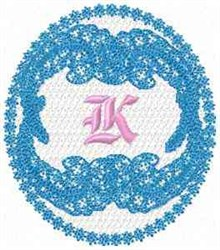 Victorian Lace K embroidery design