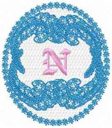 Victorian Lace N embroidery design