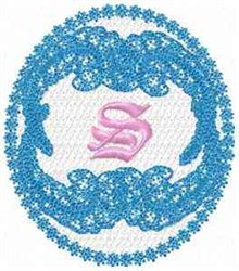 Victorian Lace S embroidery design