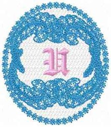 Victorian Lace U embroidery design