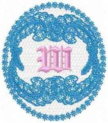 Victorian Lace W embroidery design