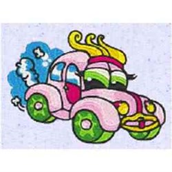 Silly Car embroidery design