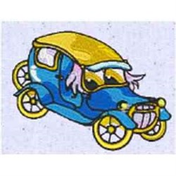 Funny Antique Car embroidery design