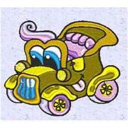 Funny Retro Car embroidery design