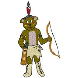 Indian Bear embroidery design