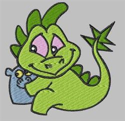 Dinosaur Baby embroidery design