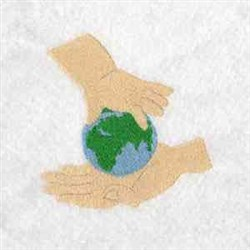 Recycling Hands embroidery design