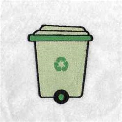 Recycling Can embroidery design
