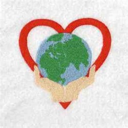 Protect The Earth embroidery design