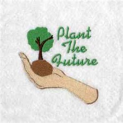 Plant The Future embroidery design