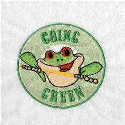 Going Green embroidery design