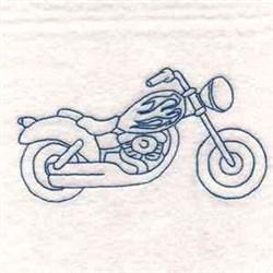 Blue Work Bike embroidery design
