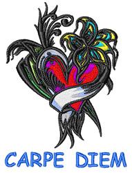 Carpe Diem Flowers embroidery design