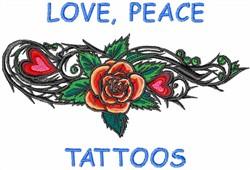 Love Peace Tattoos embroidery design